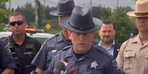 La conférence de presse du Sheriff du comté de Harford dans le Maryland le 20 septembre 2018.