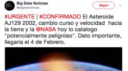 El bulo sobre un asteroide chocando contra la Tierra que no te debes