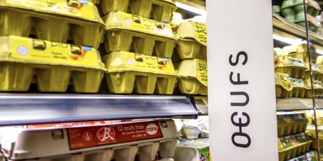 (Photo d'illustration) Œufs contaminés: des produits pouvant contenir du fipronil retirés des rayons de grandes surfaces françaises