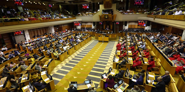 The National Assembly during Cyril Ramaphosa's election as president of South Africa on February 15.