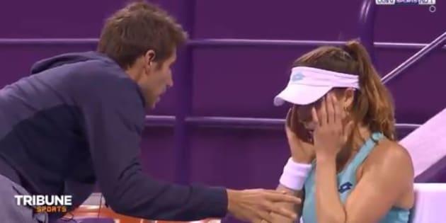 Alizé Cornet s'embrouille avec son entraîneur (et petit ami) en plein match au tournoi de Doha