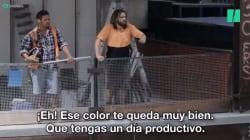 VIDEO: Albañiles les gritan palabras de respeto a las