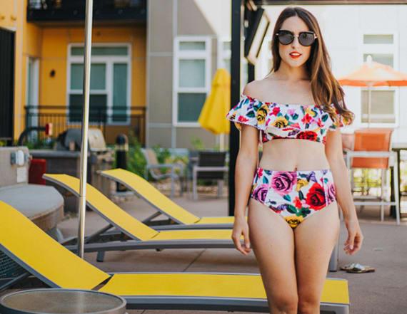 Street style tip of the day: Retro swimwear