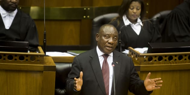President Cyril Ramaphosa responds during his Question and Answer session in Parliament on March 14, 2018 in Cape Town.