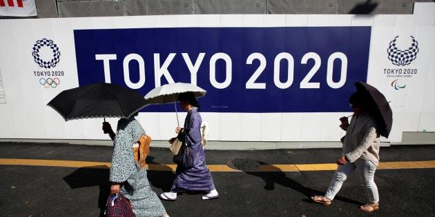Un site olympique en construction à Tokyo le 23 mai 2017.