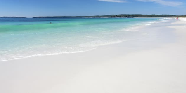 Hyams Beach, on the south coast of NSW, is said to have the whitest sand in the world.