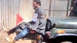 Les images d'un homme utilisé comme bouclier humain par l'armée déchaînent