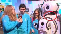 Ce robot high tech russe n'était qu'un homme dans un