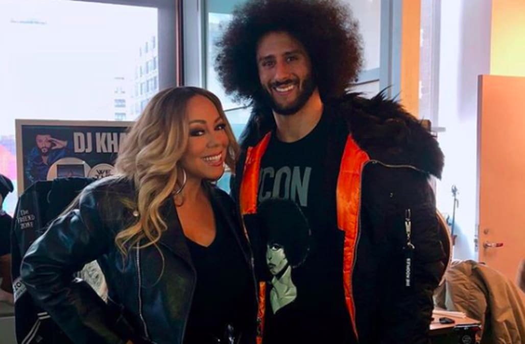 b4a576f5f Mariah Carey calls meeting Colin Kaepernick  an honor