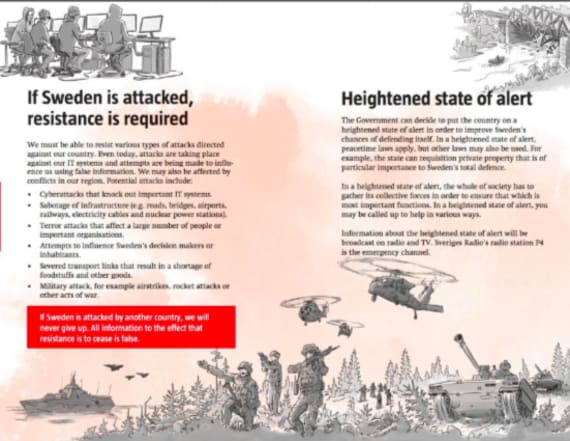 Swedes given warning in Cold War-style booklet