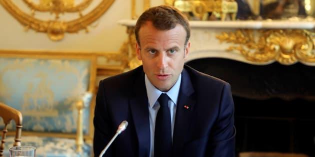 Emmanuel Macron à l'Elysée le 22 mai.