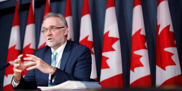 Auditor General Michael Ferguson speaks during a news conference in Ottawa on May 3, 2016.