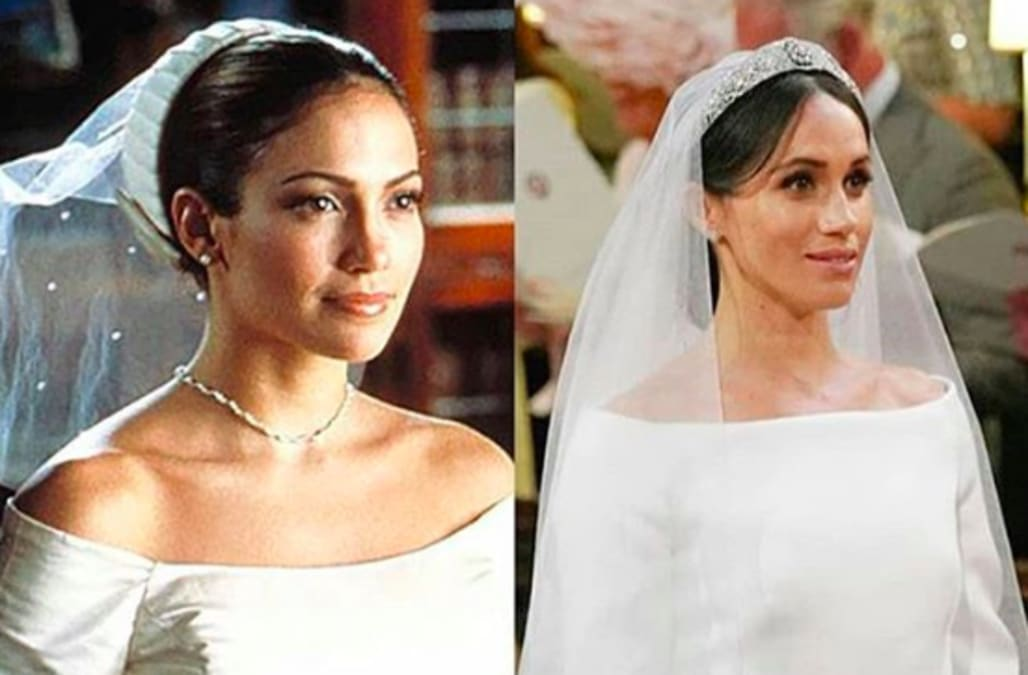 Meghan markle39s wedding dress looked a lot like jennifer for Jlo wedding dress