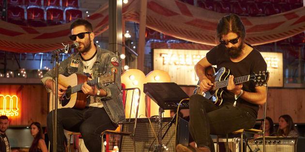 Rafa Val y Alberto Cantúa durante el concierto 'Cómplices de Mahou' de Viva Suecia en el Mad Cool.
