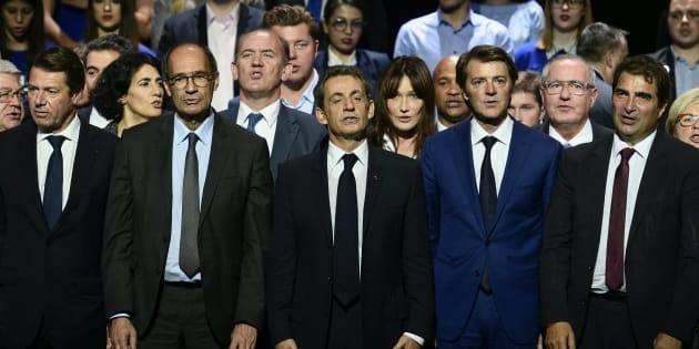 Le camp Sarkozy réuni autour du chef au Zénith de Paris au mois d'octobre.