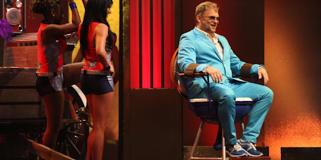Singer Steve Hofmeyr during the 'Comedy Central Roast of Steve Hofmeyr' at the Lyric Theatre, Gold Reef City on September 11, 2012 in Johannesburg.