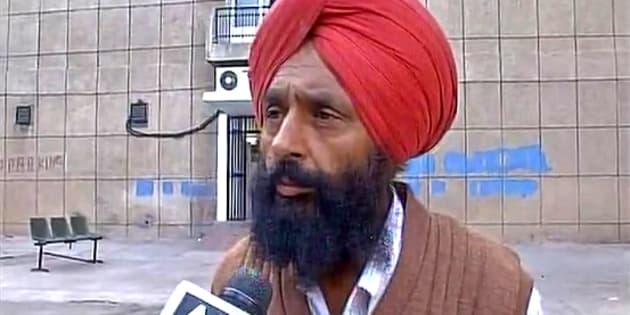 Slain BSF soldier Gurnam Singh's father Kulbir.