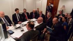 La photo de l'administration Trump pendant l'intervention américaine en Syrie en rappelle une