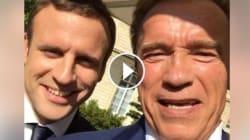 Macron e Schwarzenegger, la strana coppia ha un messaggio per