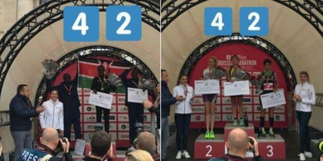 Au marathon de Bruxelles, le gagnant a remporté 1000€, la gagnante... 300€