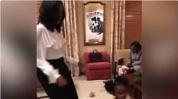 La divertida historia de este baile viral entre Michelle Obama y una niña de dos
