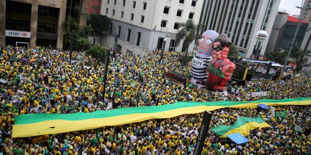 Protesto de 13 de março de 2016 antecedeu aprovação de prosseguimento de impeachment de Dilma na Câmara.