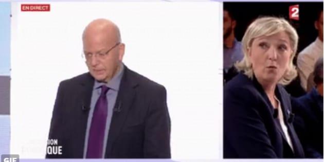 Patrick Buisson et Marine Le Pen ont débattu sur France2.