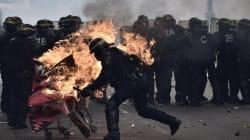 Des affrontements à Paris en marge du défilé du 1er-Mai, deux CRS grièvement