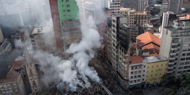 Edifício com mais de 20 andares desabou no Centro de São Paulo no início do mês.