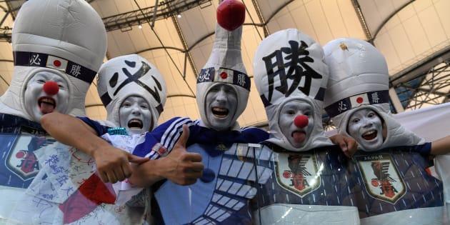 Les fans japonais étaient très enthousiastes pour le match contre la Pologne, jeudi.