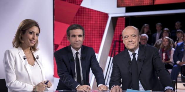Alain Juppé sur le plateau de L'Emission politique jeudi 6 octobre sur France 2.