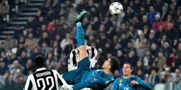 Ligue des Champions: Le retourné somptueux de Cristiano Ronaldo pendant Juventus-Real Madrid.