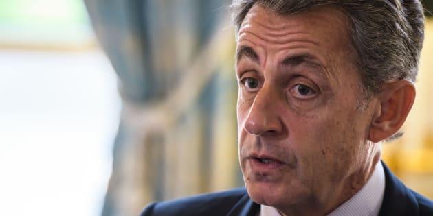 Nicolas Sarkozy à l'Elysée le 6 novembre 2017.