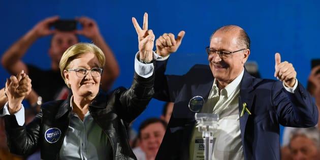 Geraldo Alckmin, do PSDB, e Ana Amélia, do PP, reúnem forças na maior coligação presidencial.