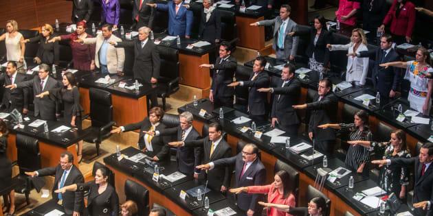 Ceremonia inaugural de la actual legislatura del Senado, 29 de agosto de 2018.