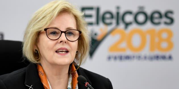 """""""Estamos encerrando uma jornada que define uma festa da nossa democracia"""", afirmou a presidente do TSE, Rosa Weber."""
