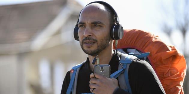Abdelghani Merah, le plus âgé des frères et sœurs de Mohamed Merah, le 16 février, sur la nationale 7, près de Valence.