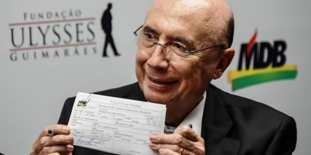 MDB deve lançar Henrique Meirelles como pré-candidato à Presidência da República nas próximas semanas.
