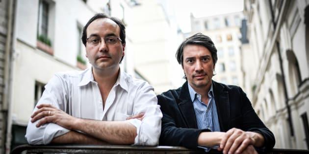 """Jules et Gédéon Naudet (ici en mai à Paris) ont réalisé """"13-Novembre: fluctuat nec mergitur"""", disponible sur Netflix."""