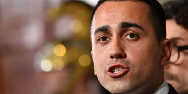 Five Star Movement (M5S) leader Luigi Di Maio speaks to journalists after a meeting with Italian President Sergio Mattarella on the second day of consultations of political parties, on April 5, 2018 at the Quirinale palace in Rome.  Italian President Sergio Mattarella begins key talks with parties on forming a government after last month's election left a hung parliament. The stalemate puts the spotlight on Mattarella, who has the power to name a prime minister, but it is still unclear whether rivals can find common ground for a coalition government or whether another vote will be needed.  / AFP PHOTO / Alberto PIZZOLI        (Photo credit should read ALBERTO PIZZOLI/AFP/Getty Images)
