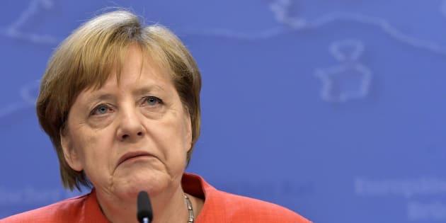 Brrussels 29.06.18  - Sommet europ�n, Arriv�s - Europese top , Aankomst   * Angela Merkel Philip Reynaers / Photonews  via Getty Images)