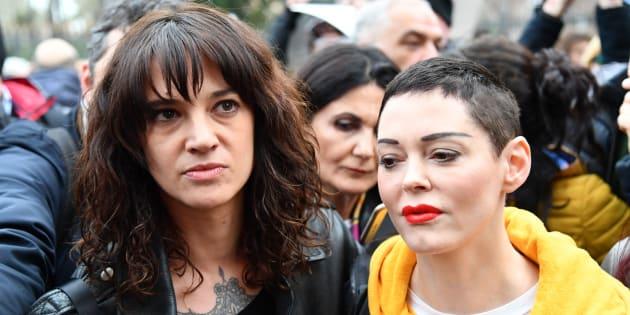 Rose McGowan et Asia Argento, le 8 mars 2018 à Rome.