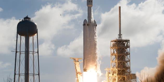 Image d'un lancement de SpaceX le 6 février dernier.