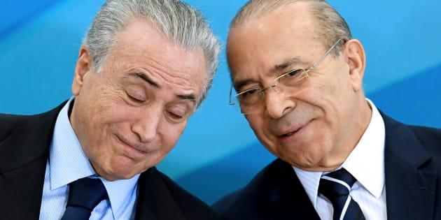 Presidente Michel Temer e ministro da Casa Civil, Eliseu Padilha.