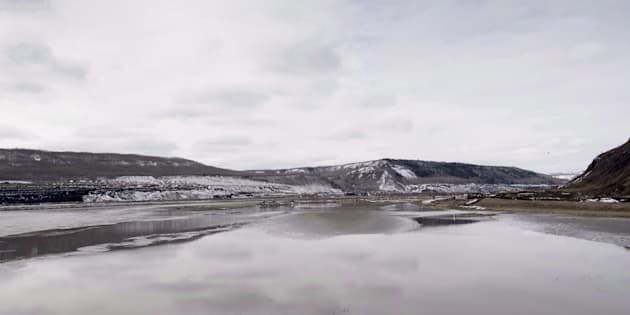 The Site C Dam location is seen along the Peace River in Fort St. John, B.C. on April 18, 2017.