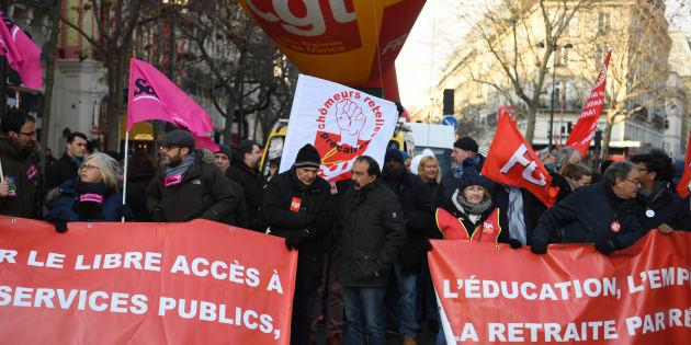 Philippe Martinez à la manifestation organisée par la CGT à Paris le 14 décembre 2018.