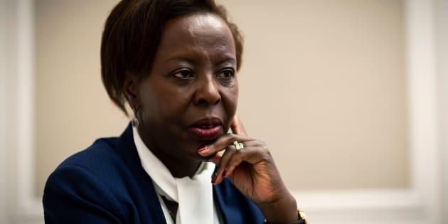 La présidente de l'Organisation internationale de la Francophonie, Louise Mushikiwabo.