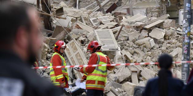 La rue d'Aubagne à Marseille, où se sont effondrés trois immeubles le 5 novembre 2018.