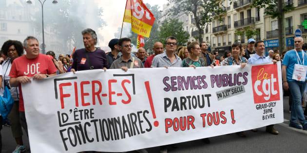 Manifestation à Paris le 22 mai 2018 pour la défense du service public.