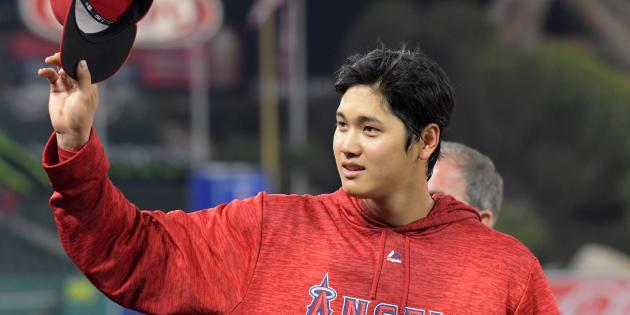 4月3日、 本拠・エンゼルスタジアムの試合に初出場した大谷翔平選手 Credit: Kirby Lee-USA TODAY Sports